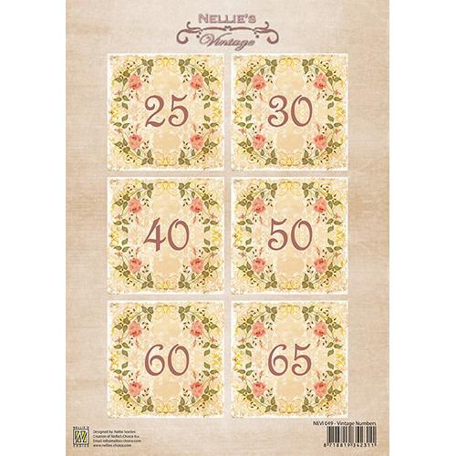 Nellie`s Vintage Numbers-1