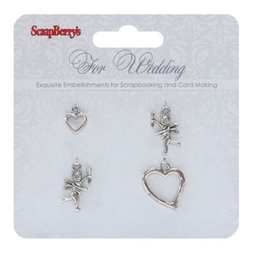 ScrapBerry`s Metal Charms Set For Wedding 4 pcs (SCB250001056)