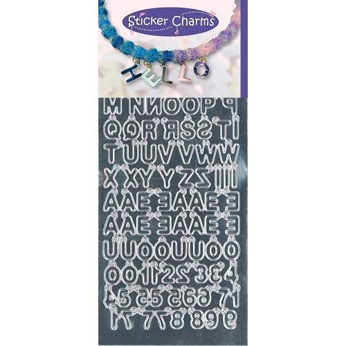 Sticker Charms - ABC-123 Mirror Silver