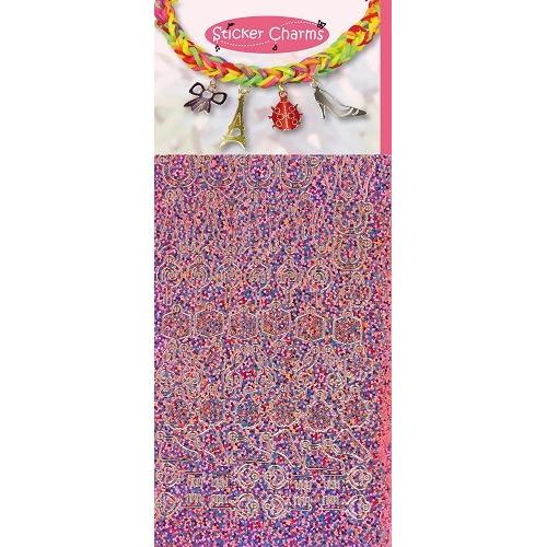 Sticker Charms - Lucky Diamond Pink