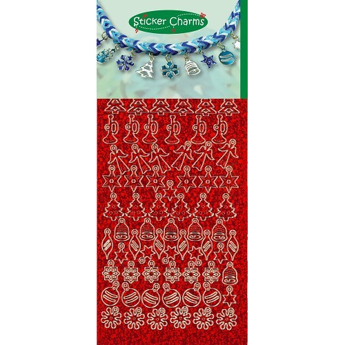 Sticker Charms - Christmas Diamond Red