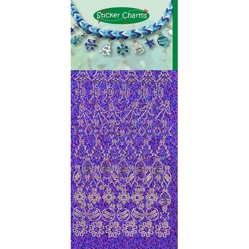 Sticker Charms - Christmas Diamond Purple