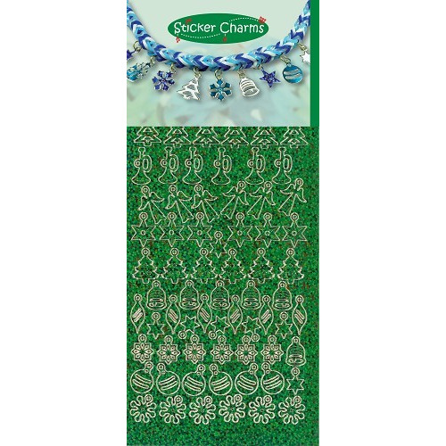 Sticker Charms - Christmas Diamond Green