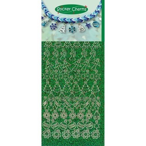 Sticker Charms - Christmas Diamond Green