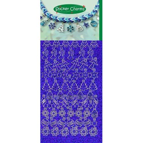 Sticker Charms - Christmas Diamond Blue