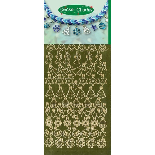 Sticker Charms - Christmas Mirror Gold