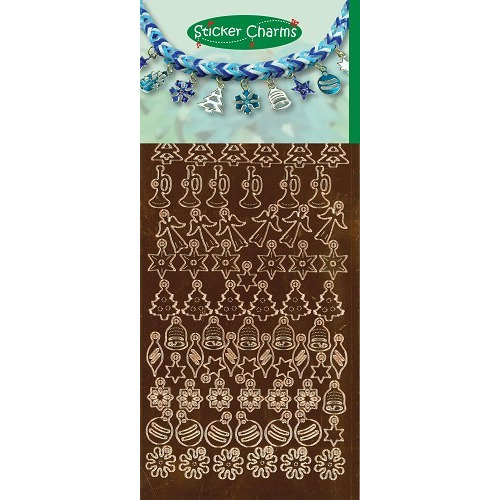Sticker Charms - Christmas Mirror Copper
