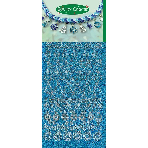Sticker Charms - Christmas Diamond Turquoise