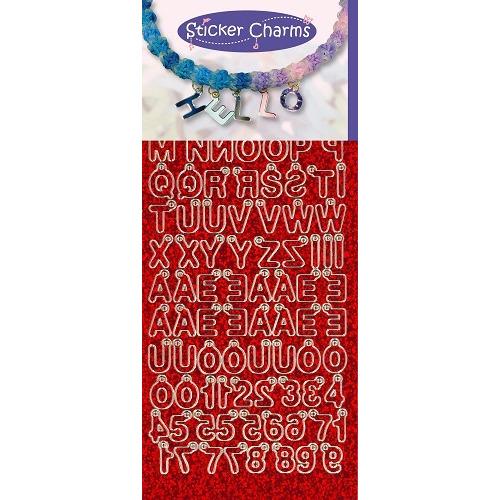 Sticker Charms - ABC-123 Diamond Red