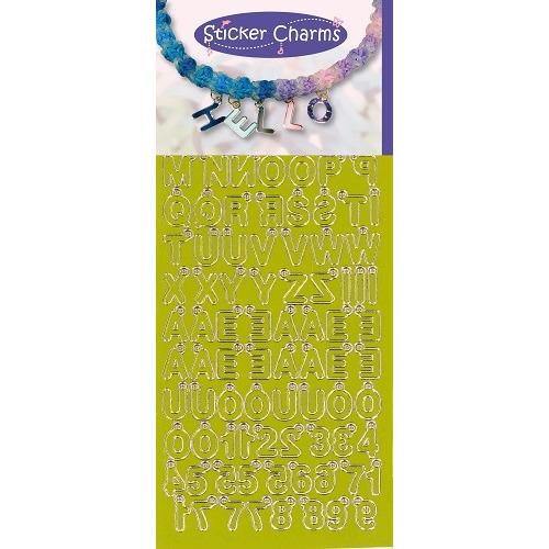 Sticker Charms - ABC-123 Mirror Yellow