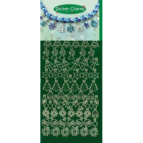 Sticker Charms - Christmas Miror Green