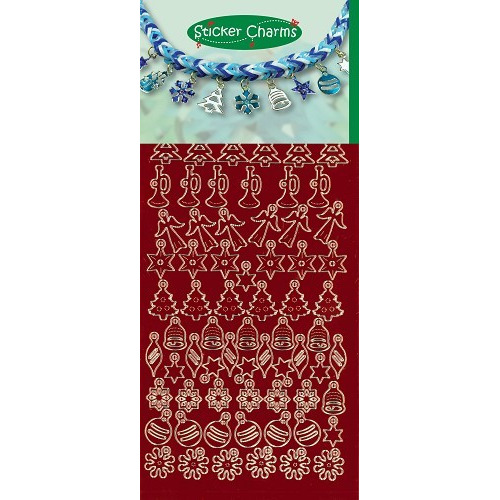 Sticker Charms - Christmas Mirror Red