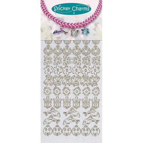 Sticker charms smile Pearl Blue