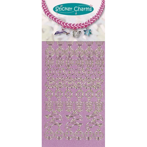 Sticker charms smile Pearl Pink