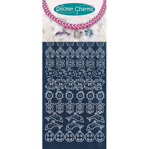 Sticker charms smile Mirror Blue