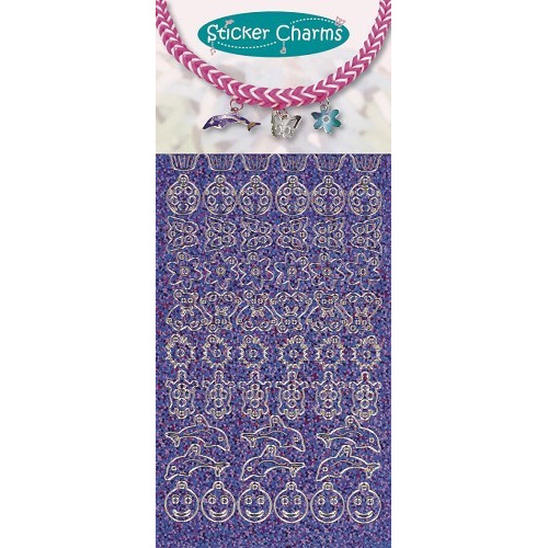 Sticker charms smile Diamond Purple