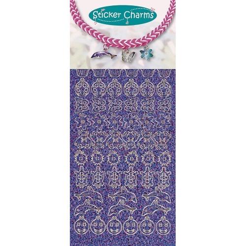 Sticker charms smile Diamond Purple