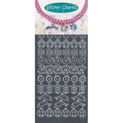 Sticker charms smile Mirror Silver