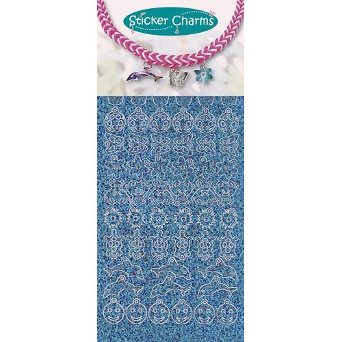 Sticker charms smile Diamond Turquoise