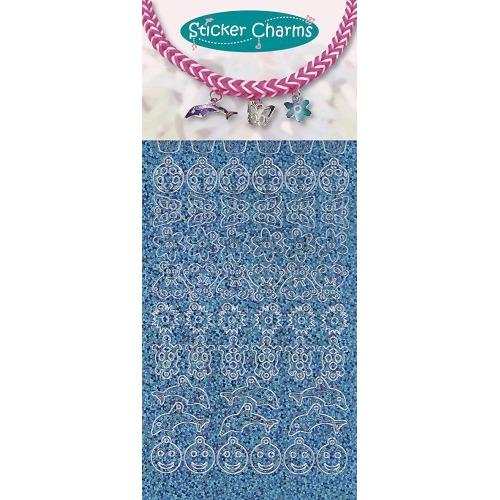 Sticker charms smile Diamond Turquoise