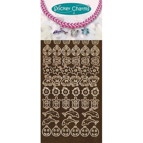 Sticker charms smile Mirror copper