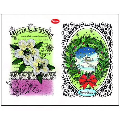 Viva Decor Silicone Stamps - Christmas Rose & Landscape