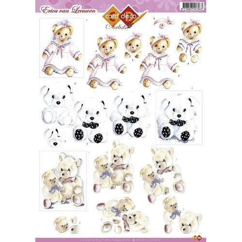 3D Knipvel - Erica van Leeuwen - Teddyberen