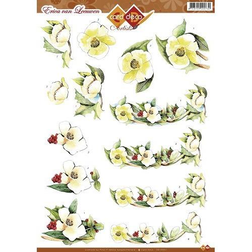 3D A4 knipvel Card Deco Artiste - Bloemen CD10351