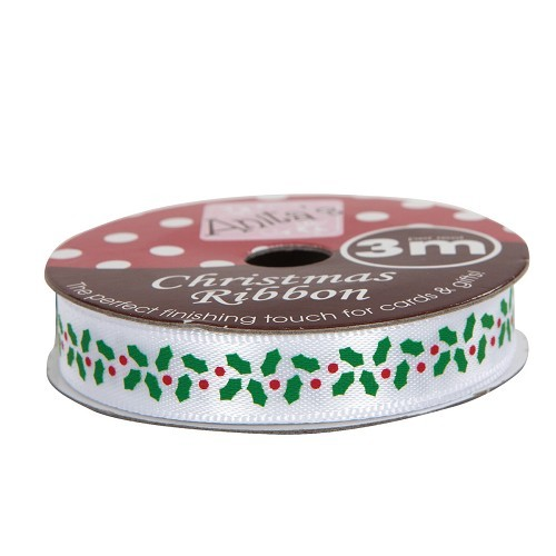 Christmas Ribbon (3m) - Holly