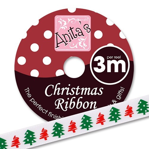 Christmas Ribbon (3m) - Christmas Trees  Artikelnummer: ANT 3679