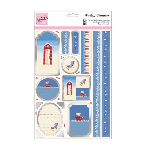 Foiled Toppers & Paper Pack - By the Sea