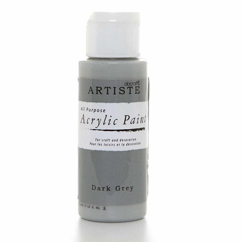2OZ ACRYLIC PAINT - Dark Grey