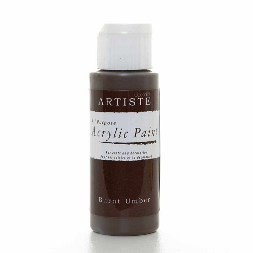 2OZ ACRYLIC PAINT - Burnt Umber