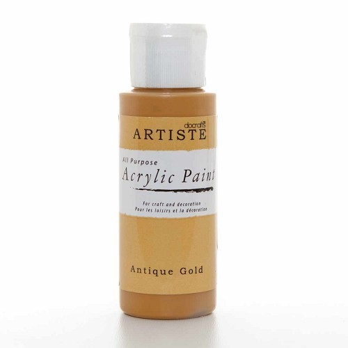 2OZ ACRYLIC PAINT - Antique Gold