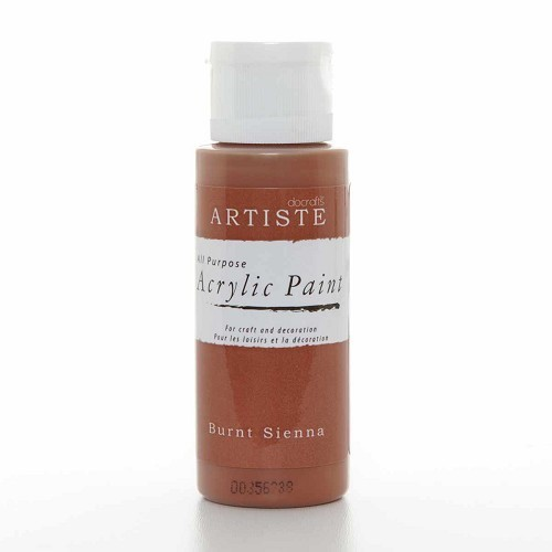 2OZ ACRYLIC PAINT - Burnt Sienna