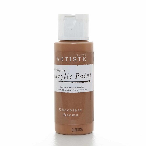 2OZ ACRYLIC PAINT - Chocolate Brown