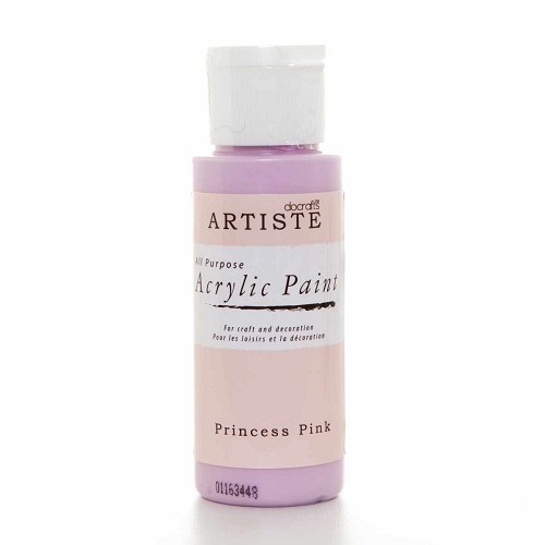 2OZ ACRYLIC PAINT - Princess Pink