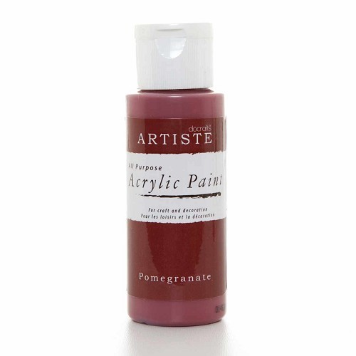 2OZ ACRYLIC PAINT - Pomegranate
