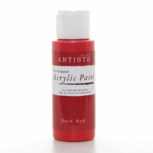 2OZ ACRYLIC PAINT - Dark Red