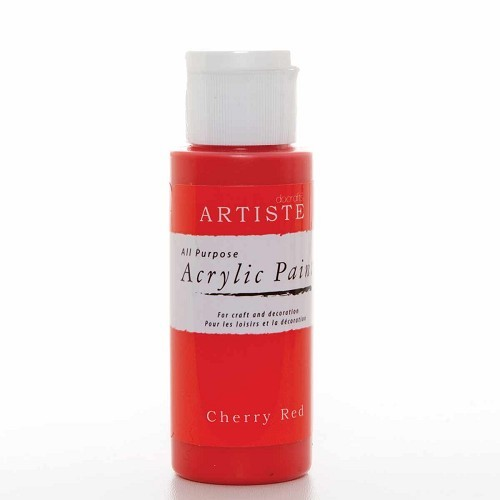 2OZ ACRYLIC PAINT - Cherry Red
