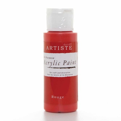 2OZ ACRYLIC PAINT - Rouge