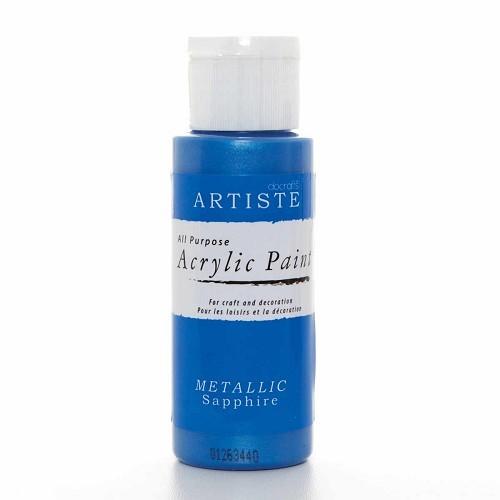 2OZ ACRYLIC PAINT - Metallic Sapphire