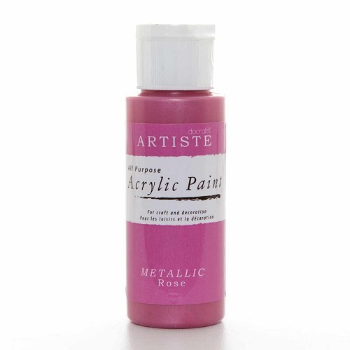 2OZ ACRYLIC PAINT - Metallic Rose