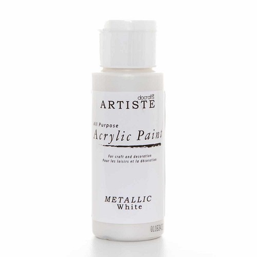 2OZ ACRYLIC PAINT - Metallic White