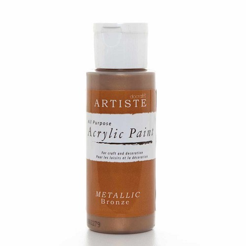 2OZ ACRYLIC PAINT - Metallic Bronze