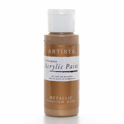2OZ ACRYLIC PAINT - Metallic Titanium Gold