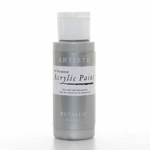 2OZ ACRYLIC PAINT - Metallic Silver