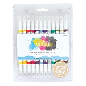 Brush Markers (12PK) - Vintage
