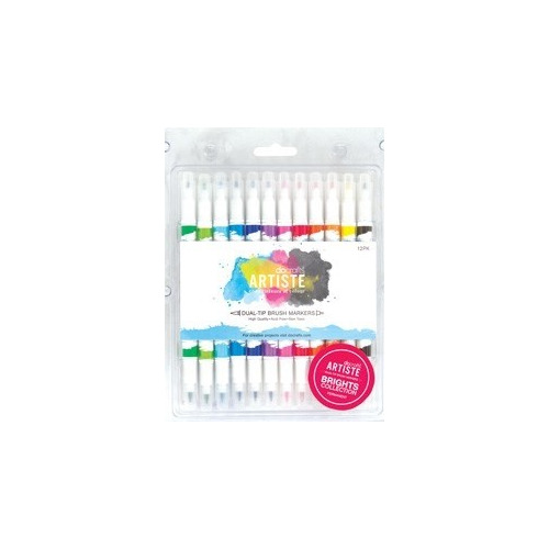 Brush Markers (12PK) - Brights