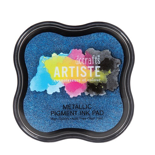 Pigment Ink Pad - Metallic Jean Blue